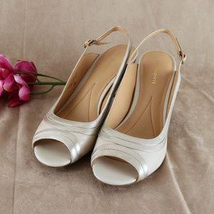 Beige Open Toe Padded Comfortable Sandal ESSELAH